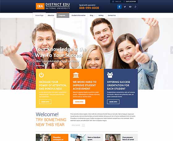 College website templates | Gridgum