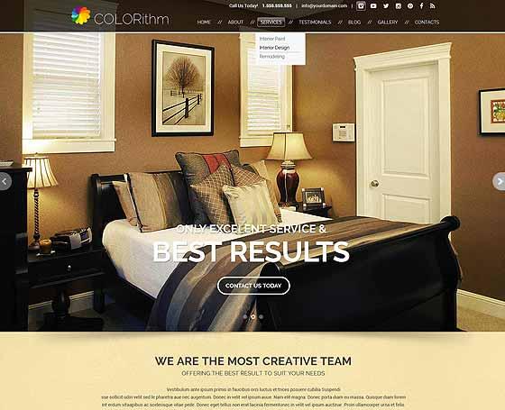 40+ Interior Design Website Templates   Free & Premium ...
