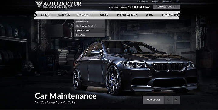 wordpress car repair theme