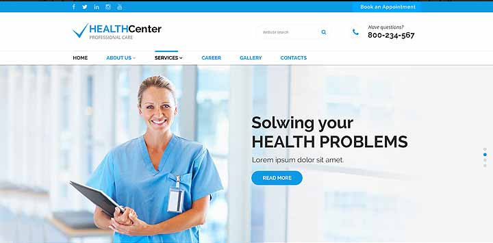 medical bootstrap website template  theme