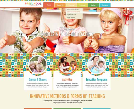 Preschool website template